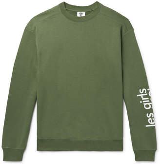 Les Girls Les Boys - Logo-Print Loopback Cotton-Jersey Sweatshirt - Men - Green