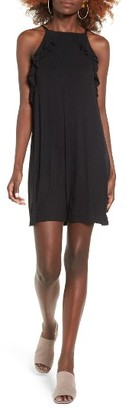 Women's Socialite Ruffle High Neck Dress $45 thestylecure.com