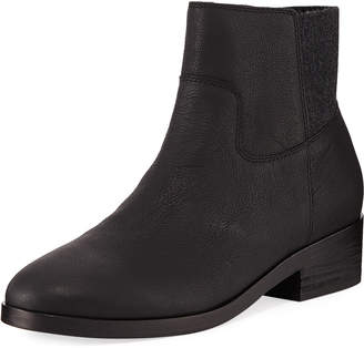 Eileen Fisher Joyce Leather Zip Booties
