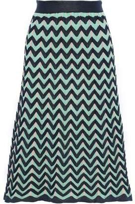 M Missoni Fluted Crochet-knit Skirt
