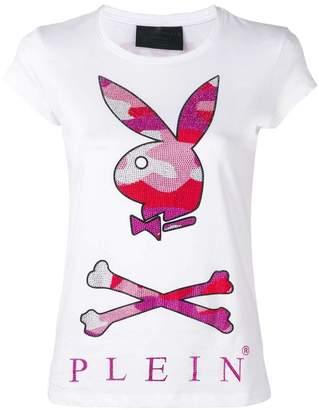 Philipp Plein camouflage Playboy bunny T-shirt