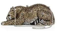 Judith Leiber Couture Couture Women's Wildcat Crystal Box Bag - Silver Cey