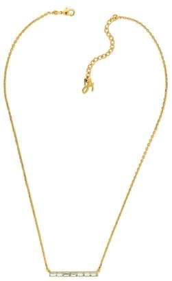 Adore Baguette Crystal Bar Necklace