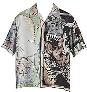 Givenchy Men's Printed Retro Shirt