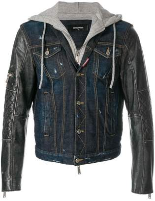 DSQUARED2 hooded denim jacket