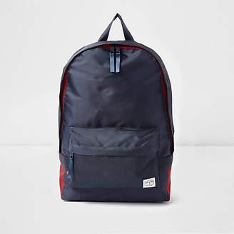 River Island Navy front pocket backpack