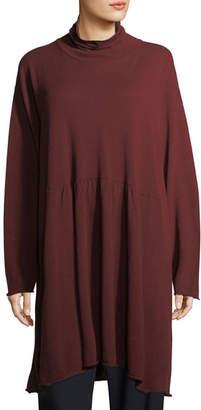 eskandar Cashmere A-Line Scrunch-Neck Tunic