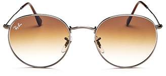 Ray-Ban Gradient Round Sunglasses, 53mm