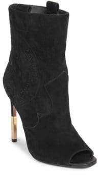 Balmain Suede Mid-Calf Boots