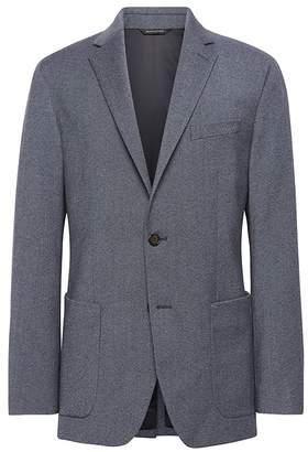 Banana Republic Standard Brushed Oxford Italian Wool Suit Jacket