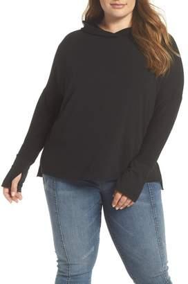 Caslon R) Off-Duty Hooded Sweatshirt (Plus Size)