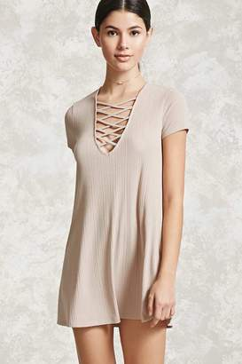 Forever 21 Strappy-Front Mini Dress