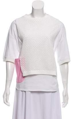 Tsumori Chisato Short Sleeve Scoop Neck Top