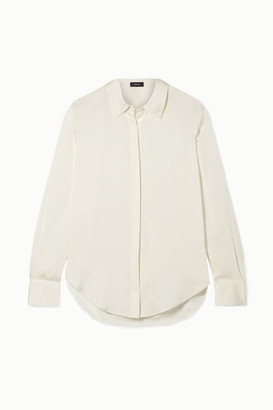 Theory Sunaya Stretch-silk Shirt - Ivory