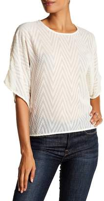 IRO Azade Chevron Sheer Blouse