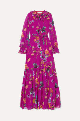 Borgo De Nor Anna Floral-print Silk-georgette Maxi Dress