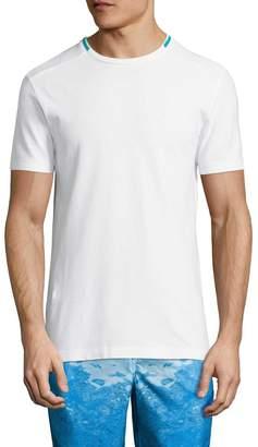 Sundek Men's Striped-Neck T-Shirt