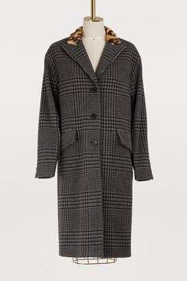Miu Miu Wool Prince Of Wales coat