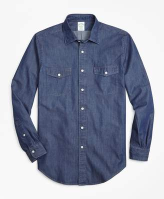 Brooks Brothers Milano Fit Vintage Chambray Sport Shirt