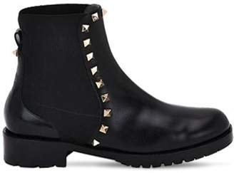 Valentino 30mm Rockstud Leather Ankle Boots