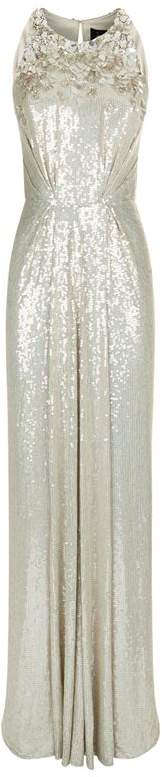 Crystal-Embellished Sequinned Gown