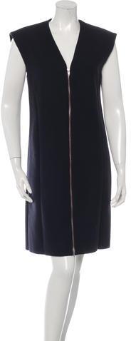 CelineCéline Wool Sleeveless Dress