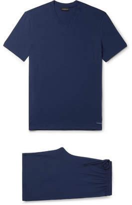 Ermenegildo Zegna Stretch Modal-blend Pyjama Set - Blue