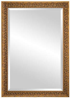 C&C Reflections Classic Carved Wood Mirror - Gold