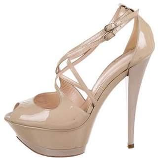 Casadei Patent leather Ankle-Strap Pumps