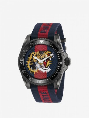 Gucci Watch Le Marché Des Merveilles Watch 38mm Case And Web Angry Cat Pattern