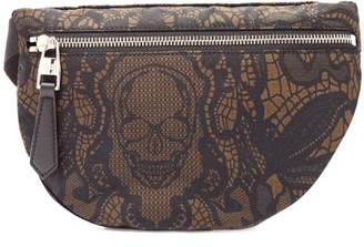 Alexander McQueen Skull Print Belt Bag - Mens - Black Multi