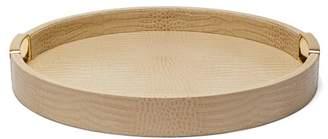 AERIN Carina Small Crocodile Effect Leather Tray - Gold