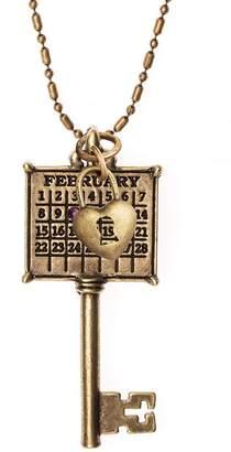 DAY Birger et Mikkelsen Not Just Any Old Personalized Brasstone Calendar Key to My HeartNecklace
