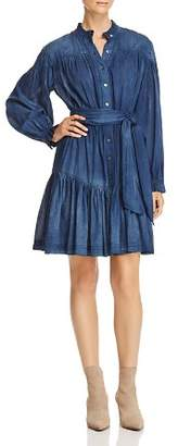 Rebecca Taylor Long-Sleeve Tissue-Denim Dress