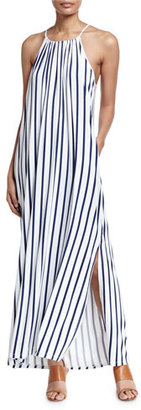 Seafolly Vertical Stripe Jersey Maxi-Dress, Indigo/White $132 thestylecure.com