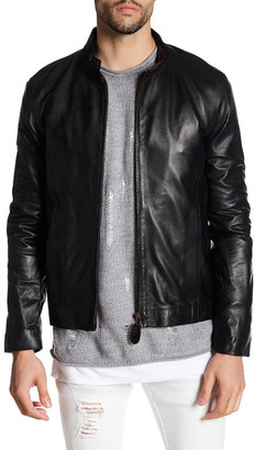 Ron Tomson Perforated Leather Jacket $920 thestylecure.com