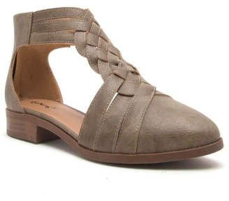 Qupid Braided Ballerina Taupe