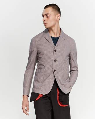 Alexander McQueen Grey Skull Print Shirt Jacket