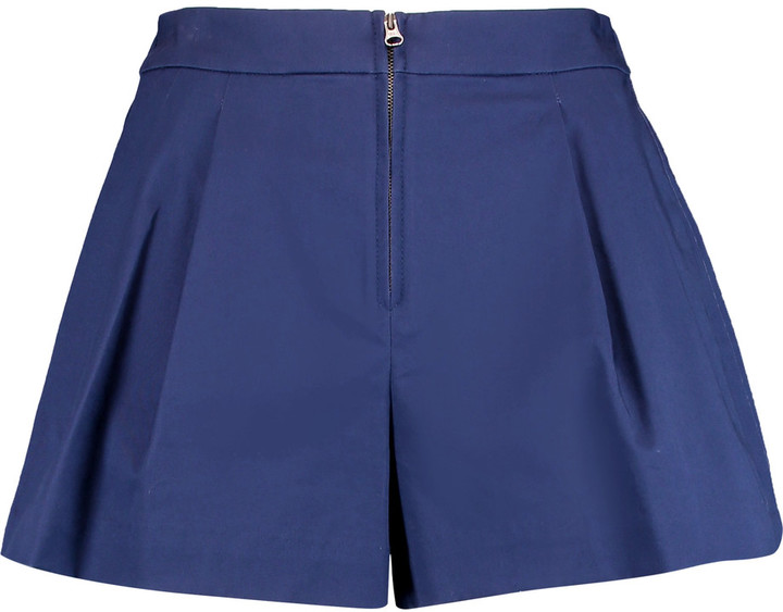 3.1 Phillip Lim 3.1 Phillip Lim Bloomer pleated cotton-blend twill shorts