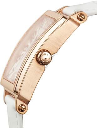 Gevril Swiss Quartz Mezzo White Diamond Leather Strap Watch