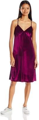 Angie Women's Velvet Midi Dress