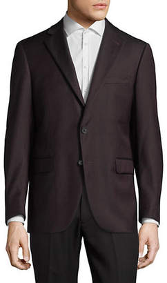 Black Brown 1826 Checkered Wool Suit Jacket