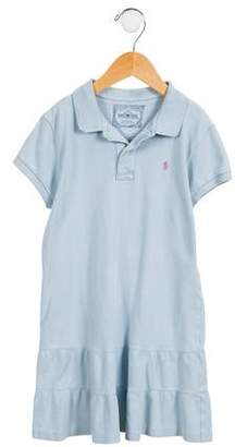 Ralph Lauren Girls' Embroidered Polo Shirtdress