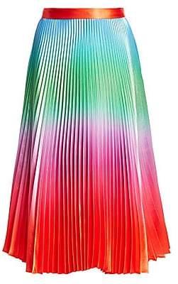 DELFI Collective Women's Clara Rainbow Print Pleated Skirt