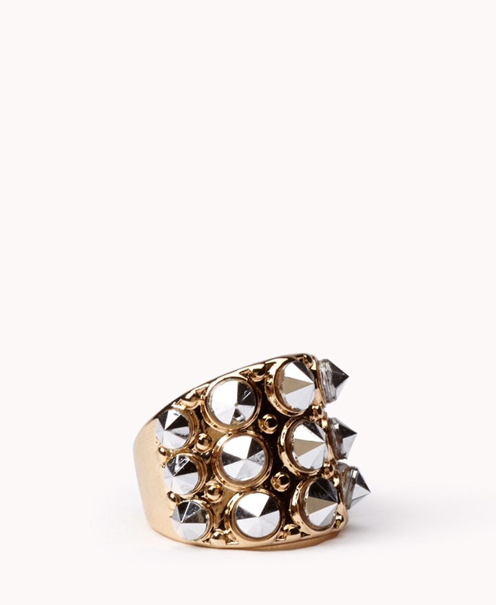 Forever 21 Mirrored Spiked Ring