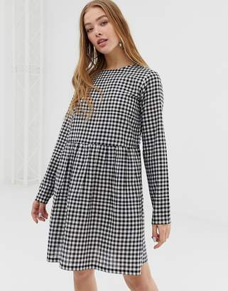 Daisy Street long sleeve smock dress in gingham