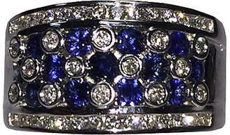 One Kings Lane Vintage 14K Gold - Diamond & Sapphire Ring - Treasure Trove NYC