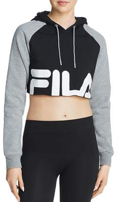 Fila Luciana Logo Cropped Hooded Sweatshirt