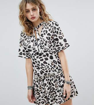 Milk It Vintage Smock Dress In Leopard