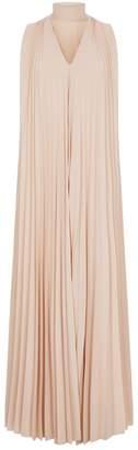 Fabiana Filippi Sleeveless Pleated Gown